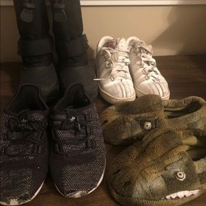 Lot Of 4 Toddler Boys Shoes size 11 Adidas